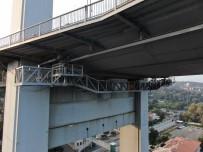 15 Temmuz Şehitler Köprüsü'nde Bakım Platformu Drone İle Görüntülendi