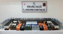 Kırklareli'nde 191 Litre Kaçak İçki İle 150 Paket Sigara Ele Geçirildi