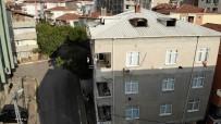 Pendik'te Tahliye Edilen Bina Havadan Görüntülendi