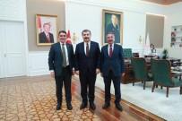 EKREM ÇELEBİ - Rektör Karabulut, Sağlık Bakanı Fahrettin Koca'yı Ziyaret Etti