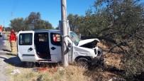 Ayvalık'ta Kaza Yangın Çıkardı Açıklaması 2 Yaralı