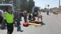 Komyonetin Çarpıp 20 Metre Sürüklediği Kasksız Motosiklet Sürücüsü Ağır Yaralandı