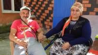 (Özel) Depremde Evinde Çatlaklar Oluşan Engelli Çift Sokakta Kaldı