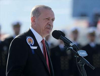 Cumhurbaşkanı Erdoğan: Türkiye savaş gemisini milli imkanlarıyla tasarlayan 10 ülkeden biri