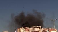 Şişli'de 5 Katlı Binanın Çatı Katı Alev Alev Yandı