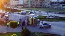 Sivas'ta Saman Yüklü Kamyon Devrildi Açıklaması 1 Yaralı