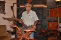 Topladığı Atık Ağaç Parçalarını Sanat Eserine Dönüştürüyor