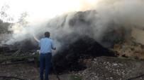 Saman Yüklü Tırda Yangın