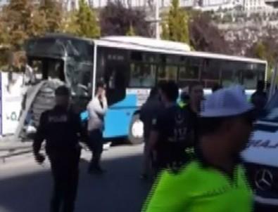 Ankara'da halk otobüsü durağa girdi! 4 kişi hayatını kaybetti