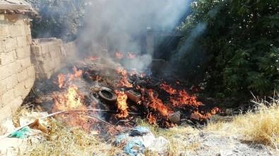 Bahçe Yangını Korkuttu