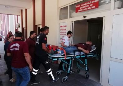 İş Makinesinden Düşen Operatör Yaralandı