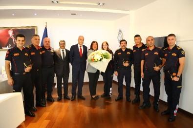 İtfaiyecilerden Başkan Çerçioğlu'na Ziyaret
