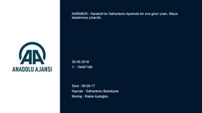 Karabük'te Eve Giren Yılanı İtfaiye Ekipleri Çıkardı