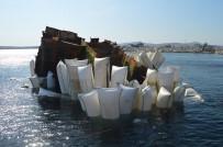Narlı'da Batık Gemi Enkazı Çıkarılıyor