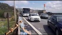 GÜNCELLEME - Anadolu Otoyolu'nda Ambalajlı Su Yüklü Tır Devrildi