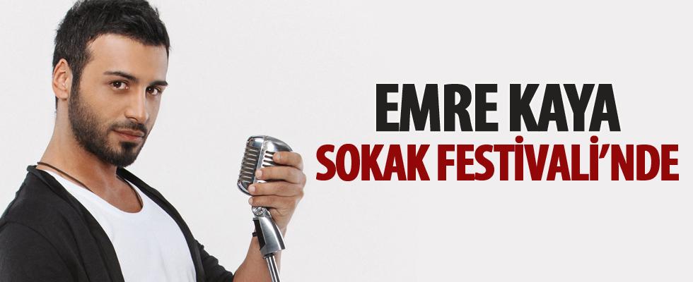 Ünlü sanatçı Emre Kaya, Sokak Festivali'nde