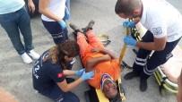 Çöp Kamyonundan Düşen Temizlik Görevlisi Yaralandı
