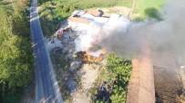 Kepsut'ta 1000 Balya Saman Yandı