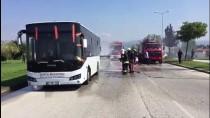 Düzce'de Halk Otobüsünde Yangın