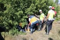 Şarampole Uçan Otomobil Takla Attı Açıklaması 1 Yaralı