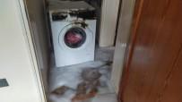 Alev Alan Çamaşır Makinesi Paniğe Neden Oldu