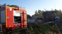 Burhaniye'de Sazlık Yangını Söndürüldü