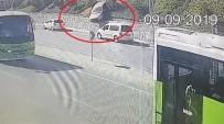 Kontrolden Çıkan Otomobil 20 Metre Yükseklikten Yola Uçtu