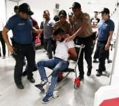 BÖLCEK - Polisi Yumruklayıp Kendini Kesen Şüpheli Tutuklandı