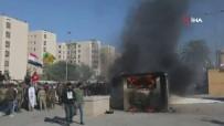BOĞULMA TEHLİKESİ - ABD'nin Bağdat Büyükelçiliği Binası Önündeki Protestolar Devam Ediyor