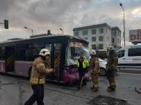 Zeytinburnu'nda Durakta Otobüs Bir Başka Otobüse Çarptı Açıklaması 15 Yaralı