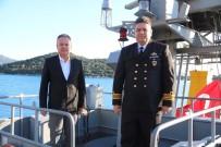 UÇAK GEMİSİ - Askeri Gemi Mustafa Ertuğrul İçin Kaş'a Demirledi