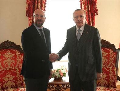 Erdoğan AB Konseyi Başkanı'nı kabul etti