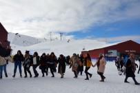 Ordu Kayak Merkezinde Hafta Sonu Yoğunluğu