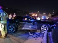 TEM Otoyolu'nda Üç Otomobil Birbirine Girdi