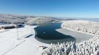 YAĞAN - Buz Tutan Topuk Yaylası Göleti Havadan Görüntülendi