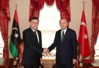 ULUSAL MUTABAKAT - Cumhurbaşkanı Erdoğan Libya UMH Başkanlık Konseyi Başkanı Serrac'ı kabul etti