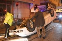NECİP FAZIL KISAKÜREK - Dur İhtarına Uymayarak Kaçan Otomobil Takla Atarak Durabildi