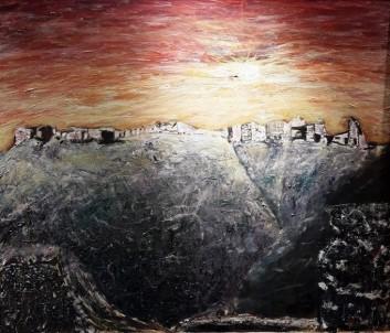Ressam Güher'in 'Anavarza Kalesi'