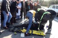 Otomobil Yayalara Çarptı, Mahalleli Tepki Gösterdi