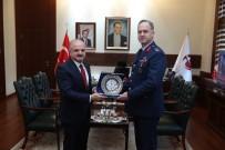 1'İnci Ana Jet Üs Komutanı Ergün, Vali Çakacak'ı Ziyaret Etti