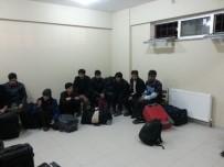 Hurdacılara Yapılan Baskında 21 Düzensiz Göçmen Yakalandı