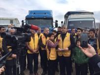 REYHANLI - İdlib'e 6 Tır Acil Yardım Malzemesi