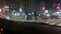 GAZI MUSTAFA KEMAL - Başkent'te 'yarış' kavgası kamerada