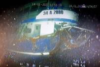 BALIKÇI TEKNESİ - Batan Balıkçı Teknesinin Enkazı Su Altında Böyle Görüntülendi