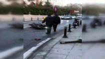 Beşiktaş'ta Kontrolden Çıkan Otomobil Motosiklete Çarptı Açıklaması 1 Yaralı