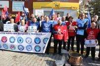 Nevşehir'de Kamu-Sen Üyeleri Bordrolarını Yaktı