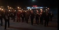 Sarıkamış Kayak Merkezi'nde Meşaleli Yürüyüş