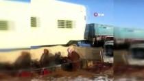 YAĞAN - Tebük'e Kar Yağdı, Develer Ve Koyunlar Karda Yürüdü