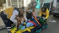 Tezgahtan Düşen Kadın Yaralandı