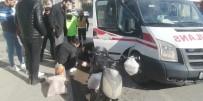 112 ACİL SERVİS - Cip İle Elektrikli Bisiklet Çarpıştı Açıklaması 1 Yaralı